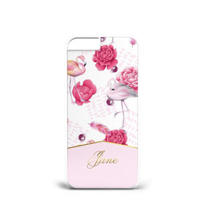 Personalised LUXURY ROSE Flowers GOLD PHONE CASE INITIALS All PHONE MODELS s8 X - EpicPhoneCase