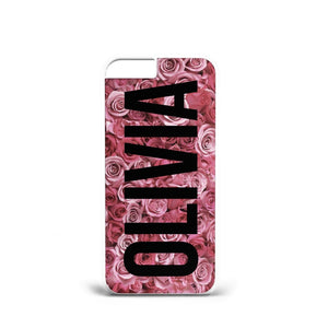 Personalised Initials Rose Flowers A27 PLASTIC Phone Cover Case for iPhoneX/S9 - EpicPhoneCase