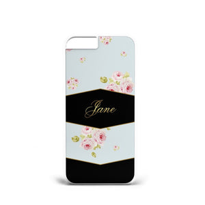 Personalised LUXURY ROSE Flowers BACGROUND PHONE CASE INITIALS ALL Phone Models - EpicPhoneCase