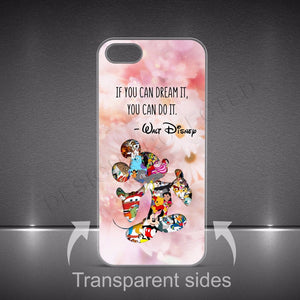 MICKEY MOUSE DISNEY DESIGN QUOTES HARD PLASTIC CASE COVER FOR IPHONE PHONES