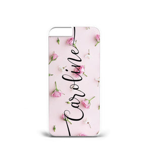 PERSONALISED INITIALS CASE COVER FLOWER ROSE SAMSUNG IPHONE 5S/S6 S7/S8/S9 + A73 - EpicPhoneCase