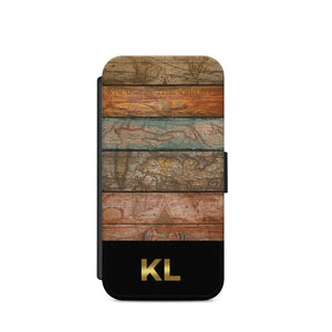 Personalised Name WOOD Texture A10 PHONE CASE COVER WALLET CARD HOLDER S9/S9+ - EpicPhoneCase