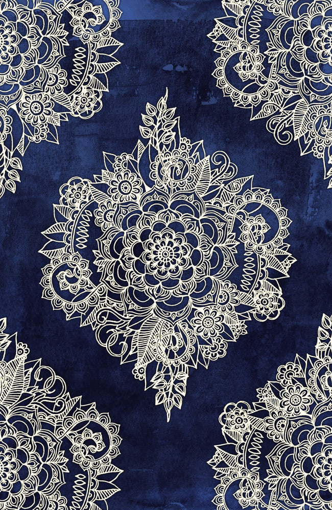 Blue Gold Moroccan Pattern