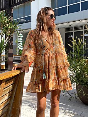 Amber Ruffle Mini Dress