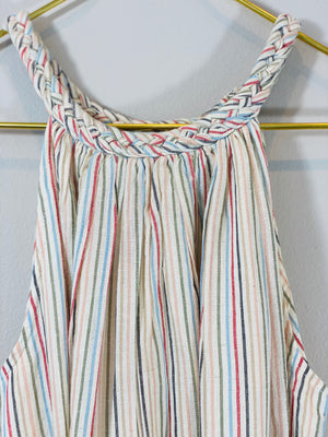 Drew Maxi Dress in Ivory Stripe
