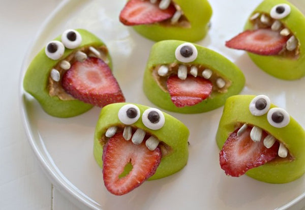 Halloween treats: Silly Apple Bites