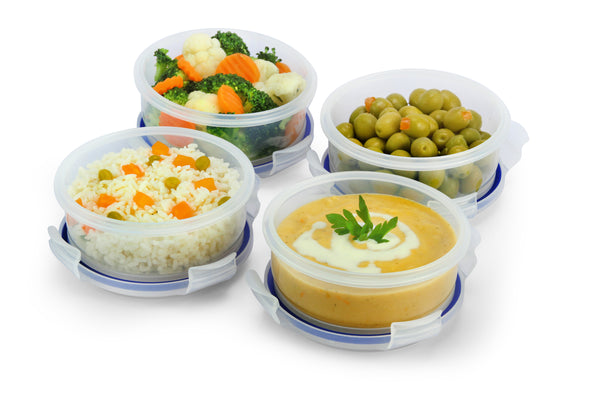 Round Food Container Meal Prep Set 4 x 1.65 Cup Containers