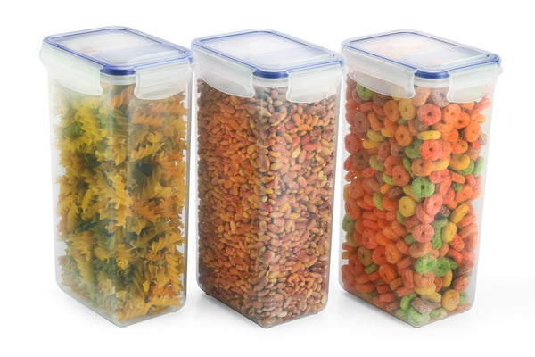 Cereal and Grain 3 Dispenser Container Set
