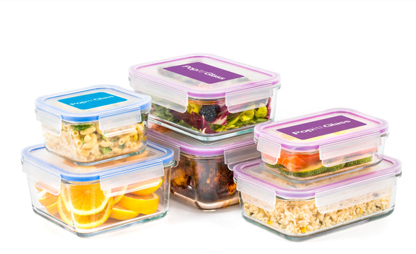 Popit! Glass 6+6 Set - Airtight, Freezer & Oven Safe Borosilicate Glass