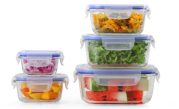 5+5 Square Popit! Glass Set - Airtight, Freezer & Oven Safe Borosilicate Glass
