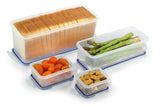 Sandwich Bread Box & Lettuce Container w/Tray + 2 Snack Containers