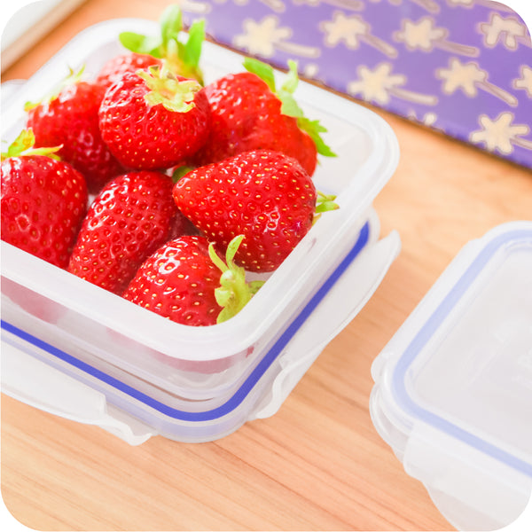Food Storage Containers - 16 Piece Set, BPA Free Plastic, 100% Leak Proof - Microwave, Freezer & Dishwasher Safe - The Little Big Box, by Popit!