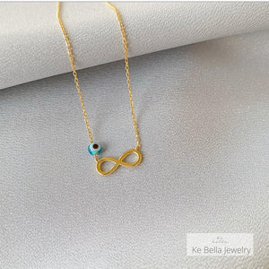 Mini Infinity Necklace (Without Stones)