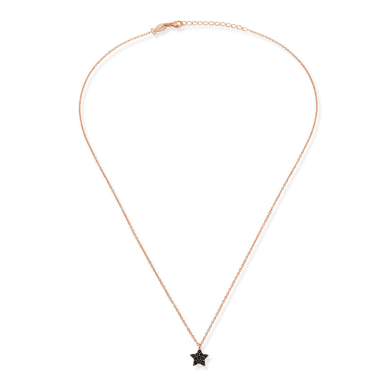 Mini Star Necklace (Black Spinel  )