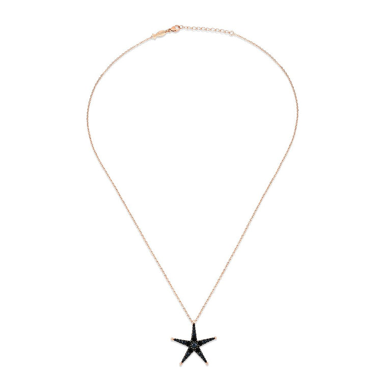 Starlette Necklace with Black Spinel Stones