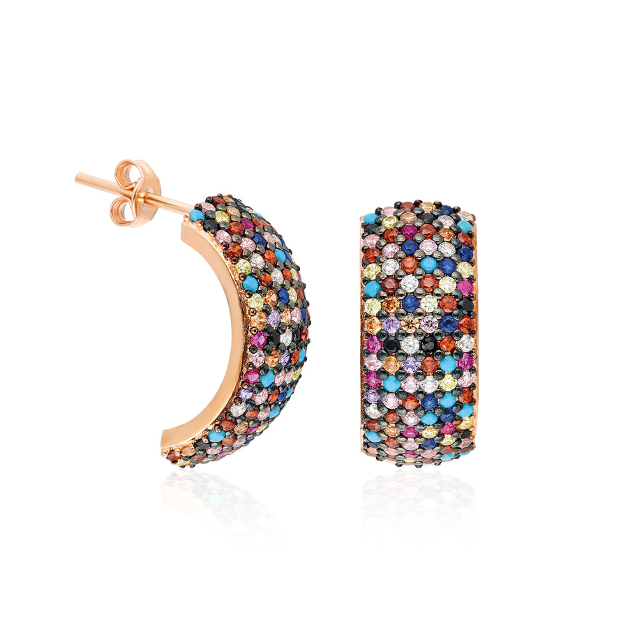 Bardot Earrings - Rainbow | Gold Vermeil