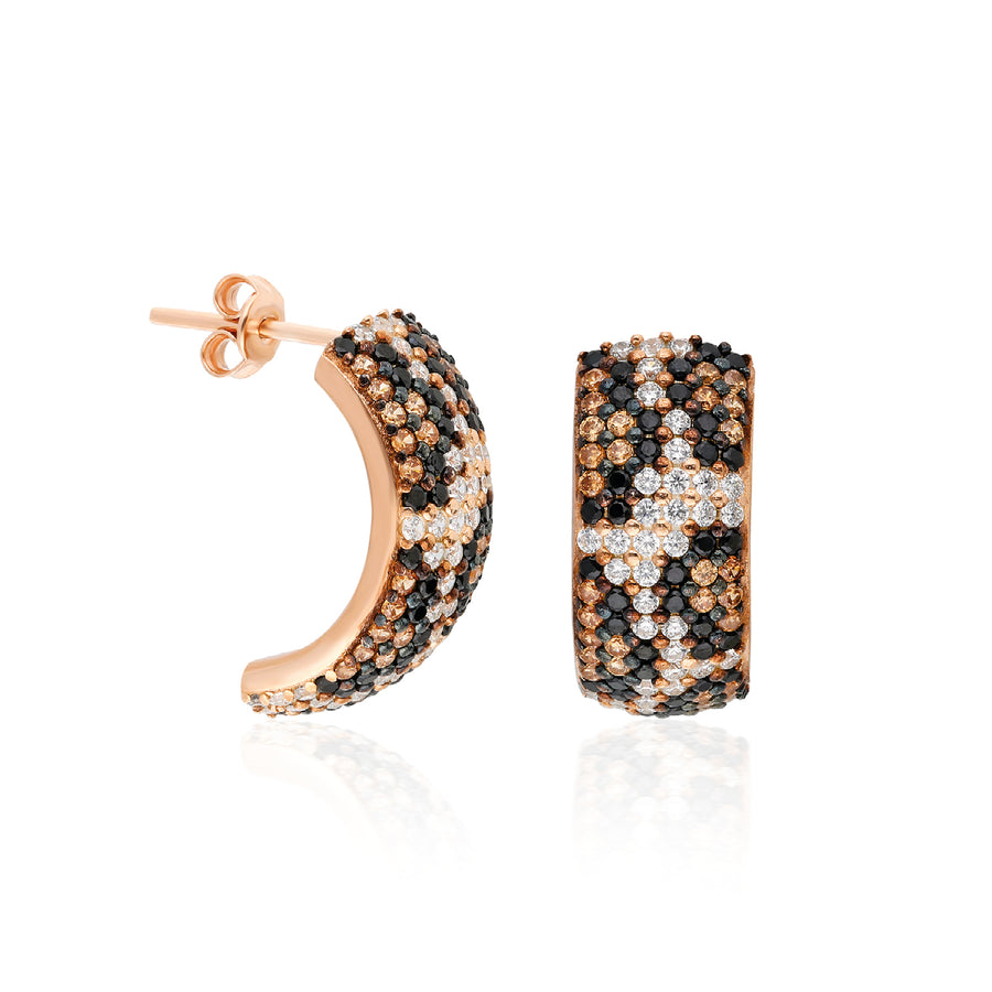 Bardot Earrings - Leopard | Gold Vermeil