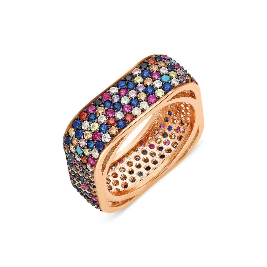 Bardot Ring - Rainbow | Gold Vermeil