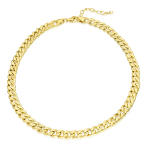"Curb Chain Choker - 14""+2 