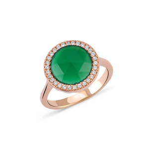 Green Onyx Ring | Gold Vermeil