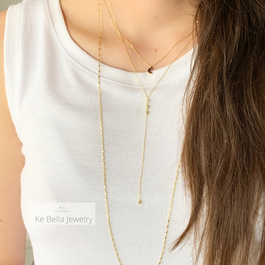 Collier lariat multicolore