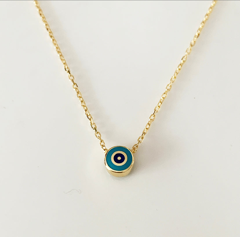 Delilah Evil Eye Necklace | Turquoise | Gold Vermeil