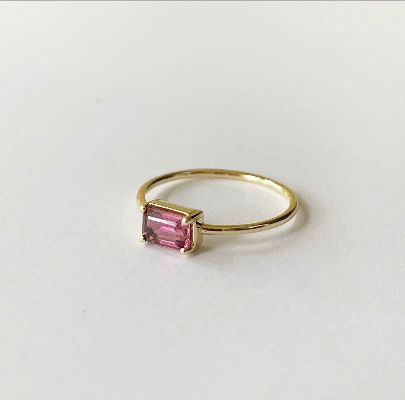 Naz Ring | 14k Gold and Pink Tourmaline