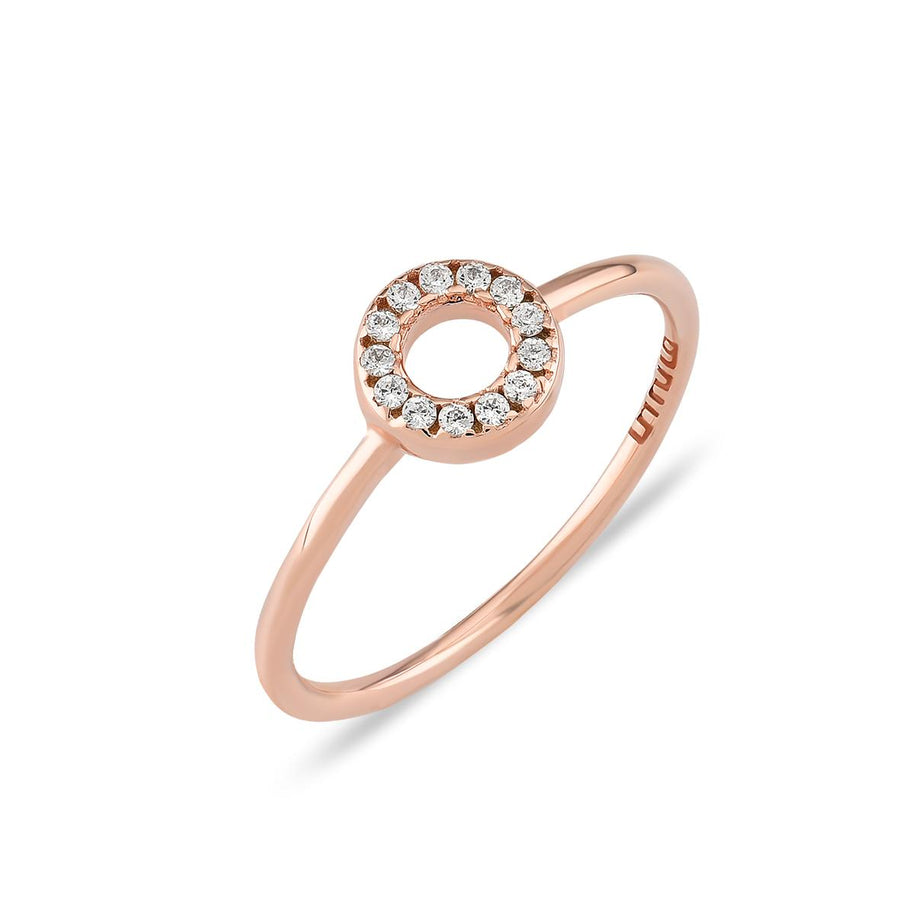 Mini Hollow Circle Ring