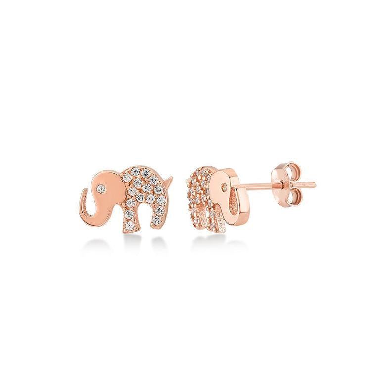 Mini Elephant Stud Earrings