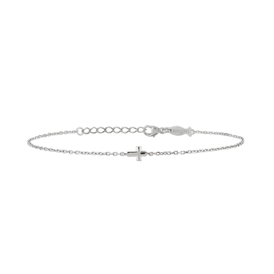 Tiny Cross Bracelet - without stones