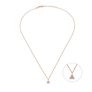 Collier mini triangle