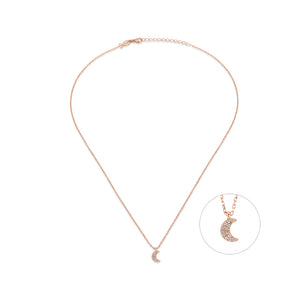 Little Crescent Moon Choker Necklace