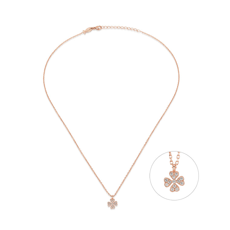 Mini Clover Necklace - Irish Charm