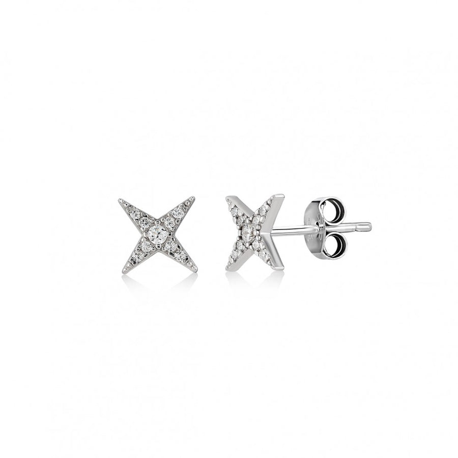 Four Point Star Earrings