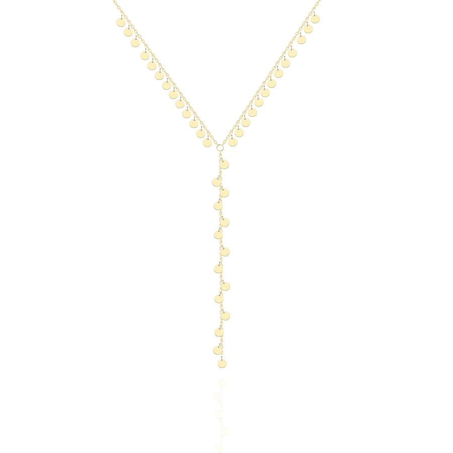 Shimmer Circles Lariat Necklace | Sterling Silver