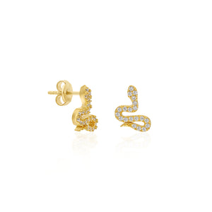 Mini Snake Stud Earrings | Sterling Silver