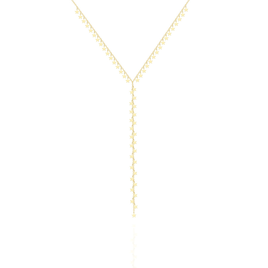 Shimmer Stars Lariat Necklace | Sterling Silver