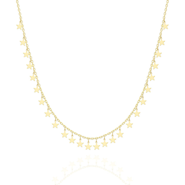 Shimmer Mini Stars Necklace   Sterling Silver 1