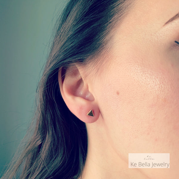 Mini Smooth Triangle Stud Earrings