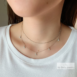 Multi Mini Triangle Necklace