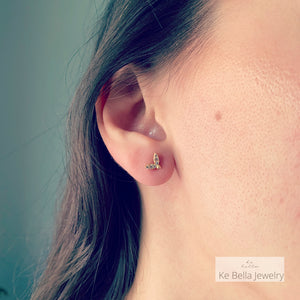 Olive Leaf Stud Earrings