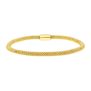 Popcorn Bangle Bracelet with Magnetic Clasp | Sterling Silver