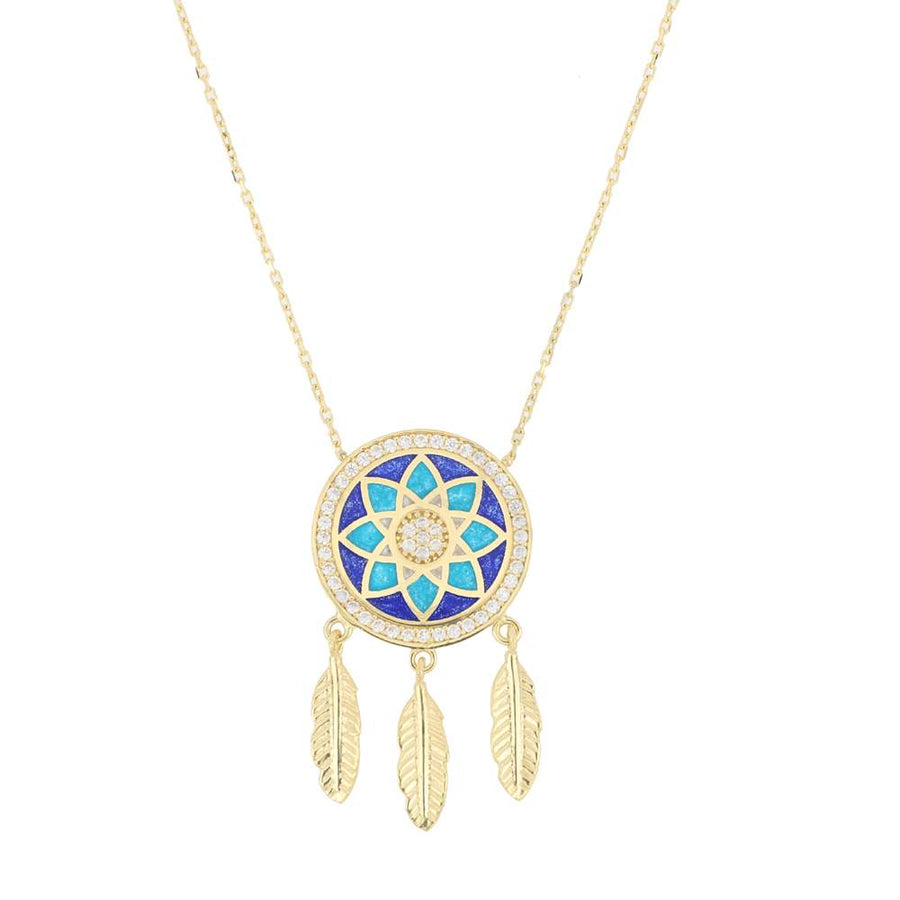 Dreamcatcher Necklace | Gold Vermeil