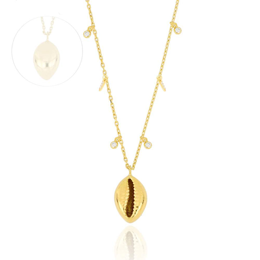 Seashell Charm Necklace | Gold Vermeil