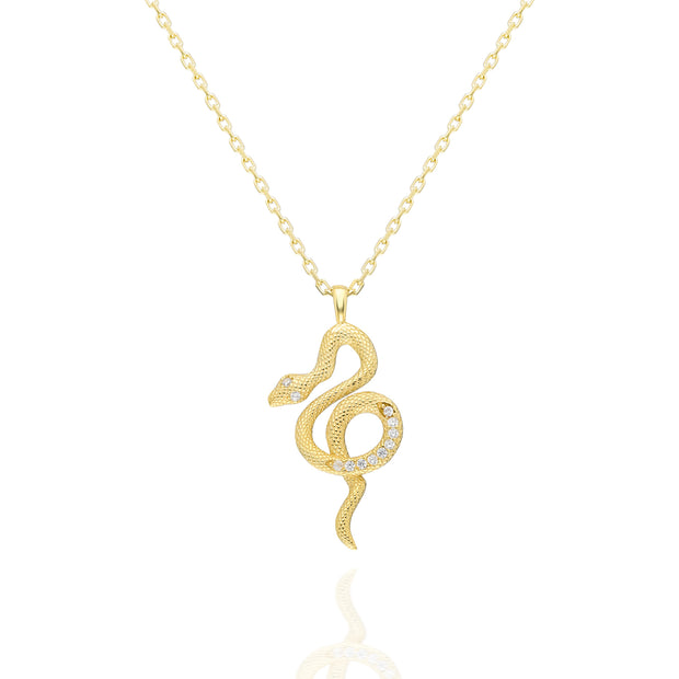 Serpent Necklace   Sterling Silver 1