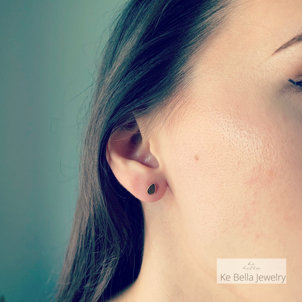 Mini Smooth Drop Stud Earrings