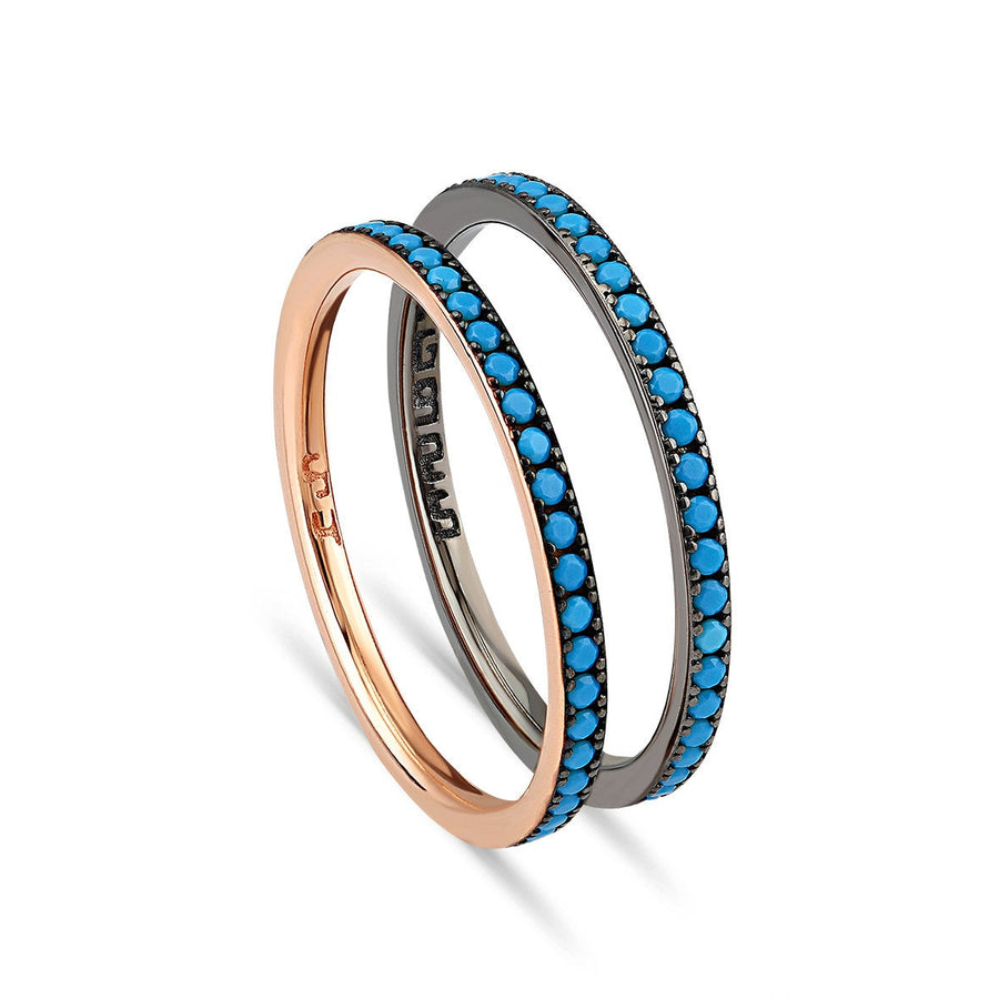 Turquoise eeuwigheid band ring
