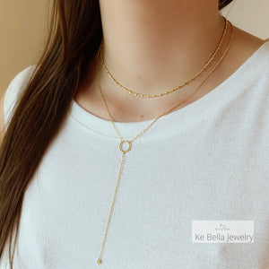Circle of Life Lariat Necklace