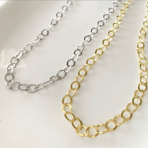 Aria Link Chain Necklace | Gold Vermeil