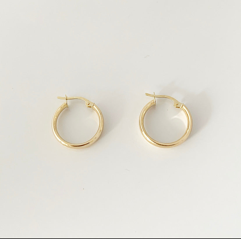 Creolen (18 mm) | 14 Karat Gold